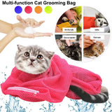 Adjustable Mesh Cat Grooming Bag Dog Cleaning No Scratching Biting Restraint Bathing Nail Trimming Injecting Pet Supplies L35