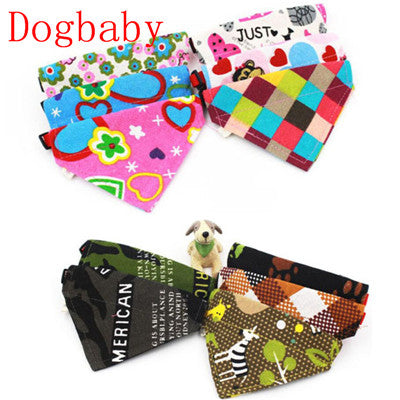 Adjustable Dog scarf Cotton triangle Towel Scarfs Shawl Variety Of Patterns Mascotas Dog modified accessories 2017 Pet supplies