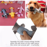 ABEDOE Dog Cat Pet Chew Toys Canvas Durability Vocalization Dolls Bite Toys for Dog Accessories pet dog products High Quality