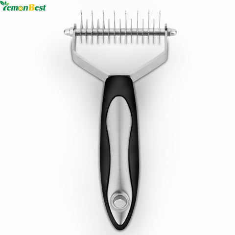 Double Side Pet Dog Removal Hair Comb Brush Cat Grooming Tool Hair Deshedding Clipper With Safe And Sharp Stainless Steel Blades