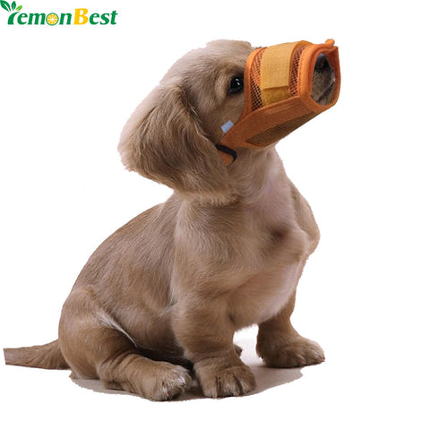 Dog Muzzles Anti Bark Bite Mesh Small Large Dogs Pet Mouth Bound Device Safety Adjustable Breathable Muzzle Stop Biting