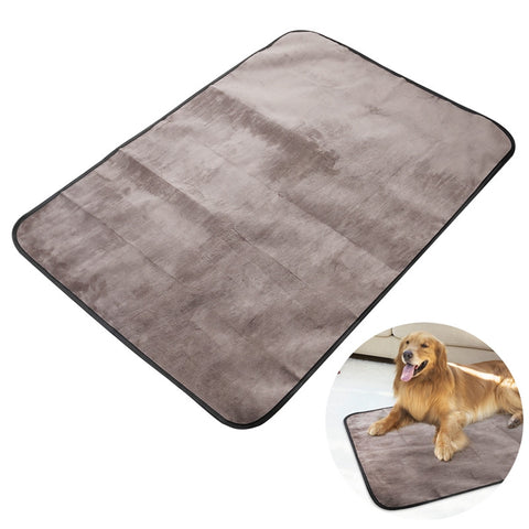 UEETEK Multifunctional Waterproof Pet Blanket 100*70CM Microplush Collapsible Pets Plush Mat Outdoor for Dog Puppy Cat Kitt