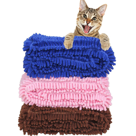 Pet Dog absorbent Towels Lint Wipes Grooming Soft Blanket Dog Bath Towel Cleaning Gruming Pet Supplies 4 color optional
