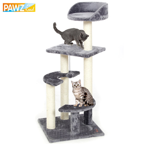 Pawz Road Domestic Delivery H100 Cat Climbing Tree Toys Scratching Solid Wood Cats Climb Frame Good Quality Pet Supplies 3Colors