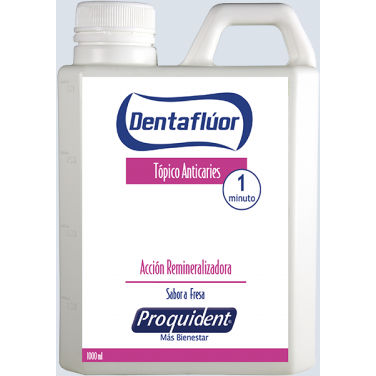 DENTAFLUOR GEL: Fresa al 1.23% 1000 CC