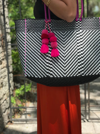 Large Mexican Plastic Woven bag