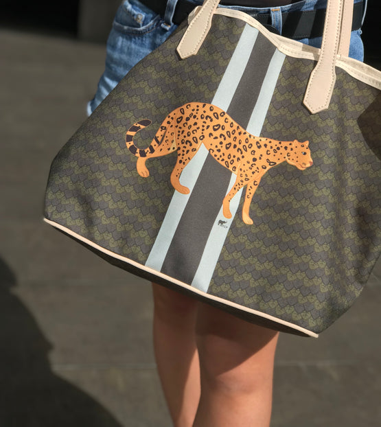 FLAVIA CARVALHO PINTO - Leopard Shopper bag