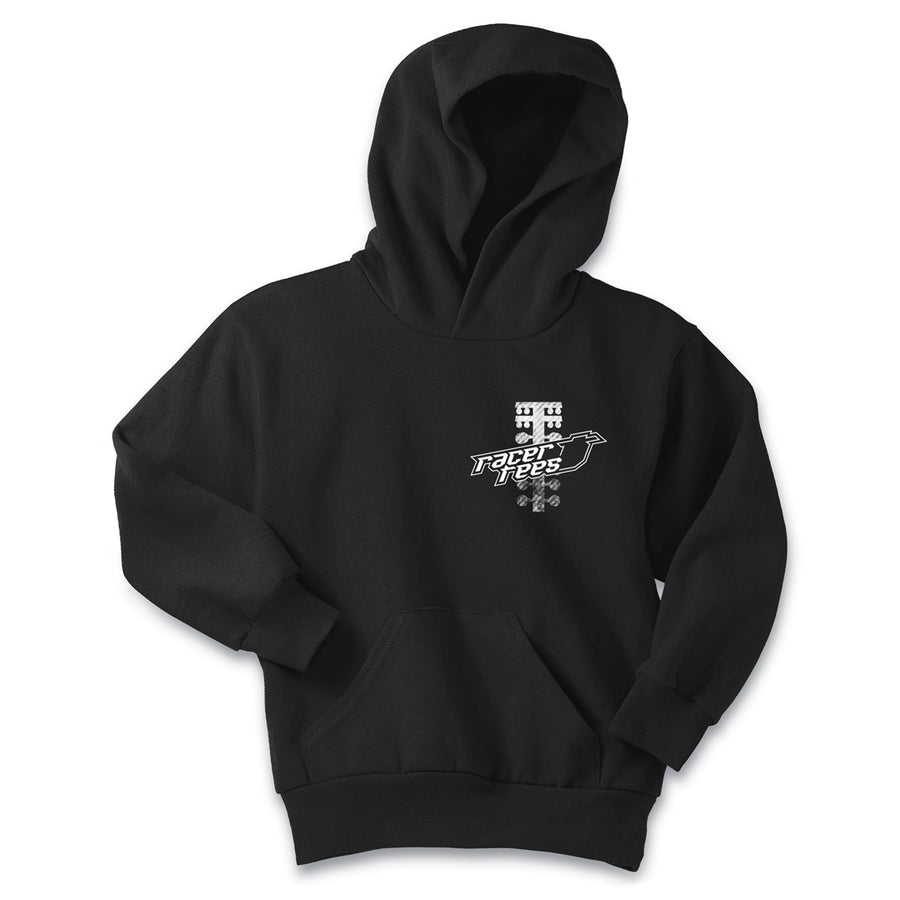 Drag Racing Tree Youth Hoodie | Black