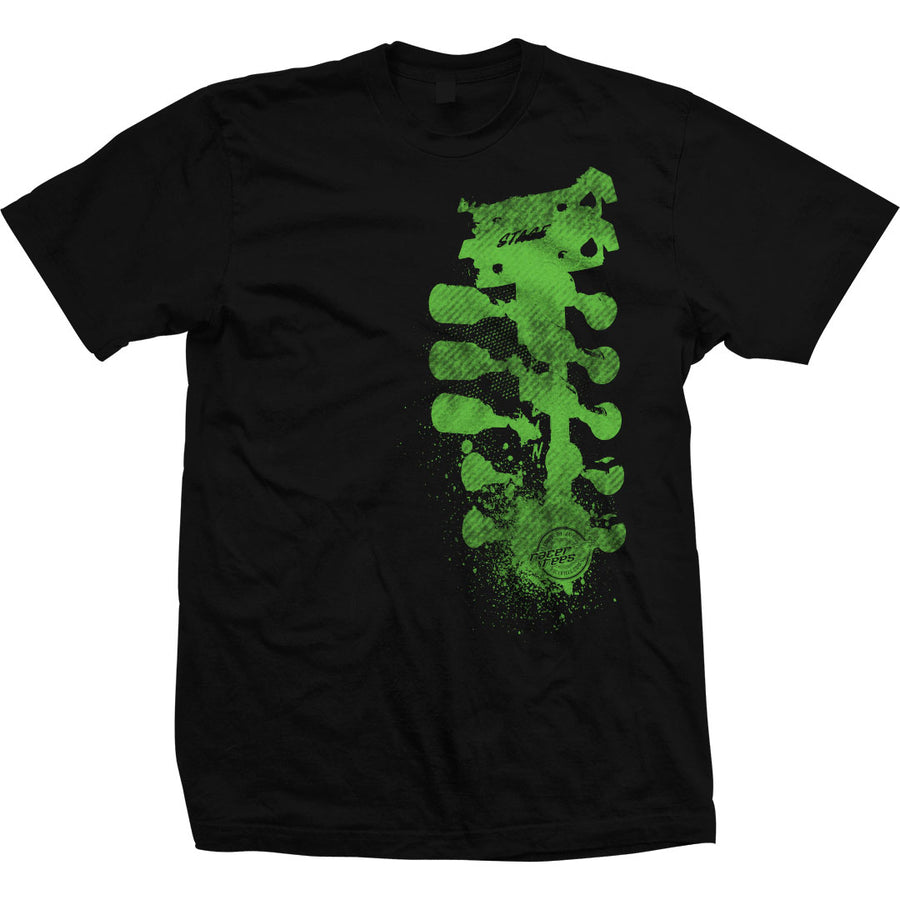 GrungeTree-Shirt-Black-Green