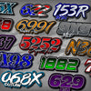 Professional Drag Racing Name/Number Kit