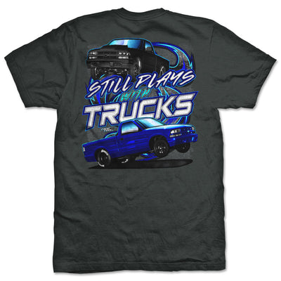 Still Plays with Trucks T-Shirt | Blue