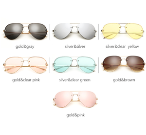 Studded Aviators - 7 Color Options including Mirrored and Clear