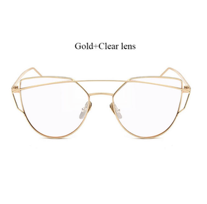 Must Have Clear Eye Wear - Gold & Clear
