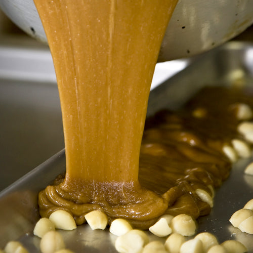Pouring Toffee