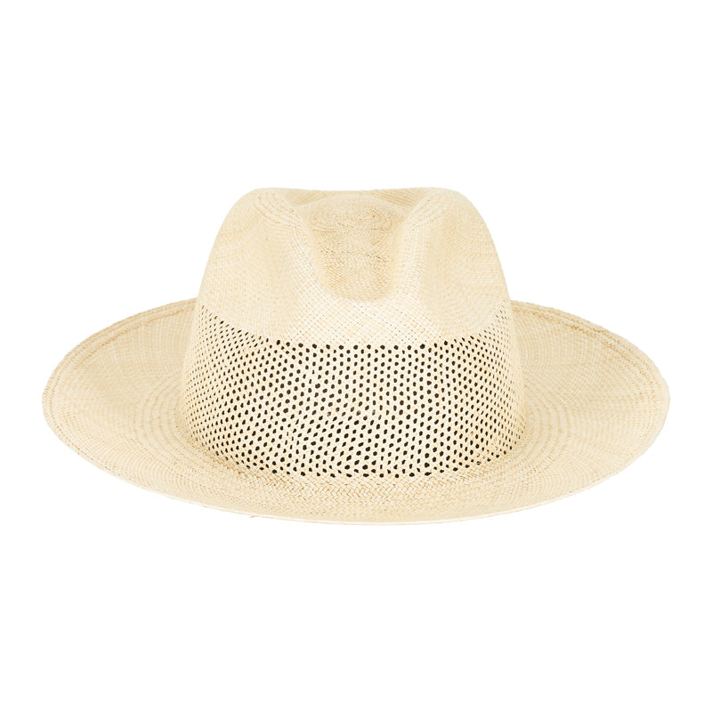 woven straw boater hat