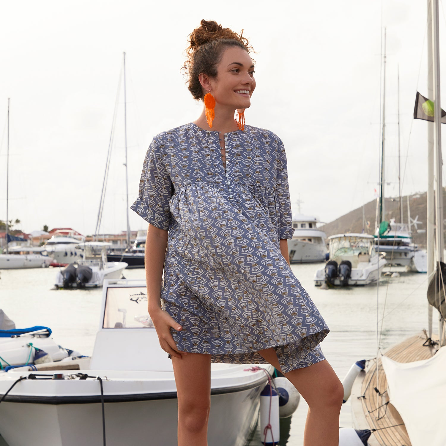 Anguilla printed cotton dress