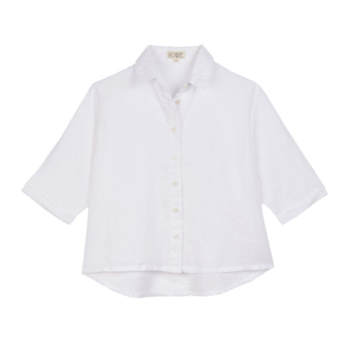 Capucine organic cotton blouse in white
