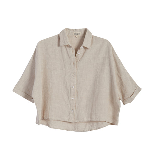 Bailey linen shirt in Sand