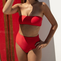 Bound high waist bikini briefs in Fire