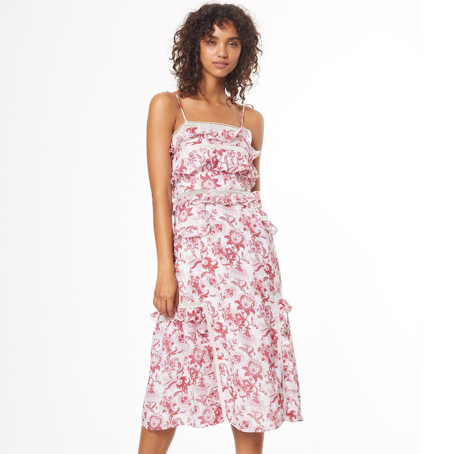 British India tie midi dress