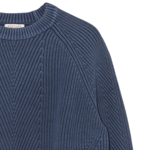 Chelsea cotton sweater in Navy