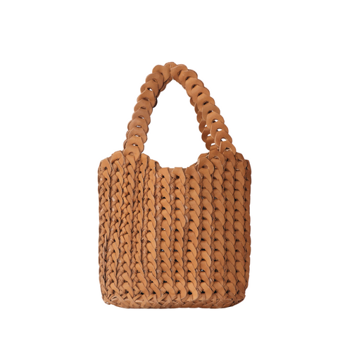 Capri woven leather bag