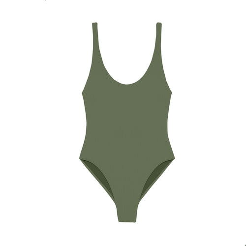 Contour onepiece swimsuit in Ribbed Olive