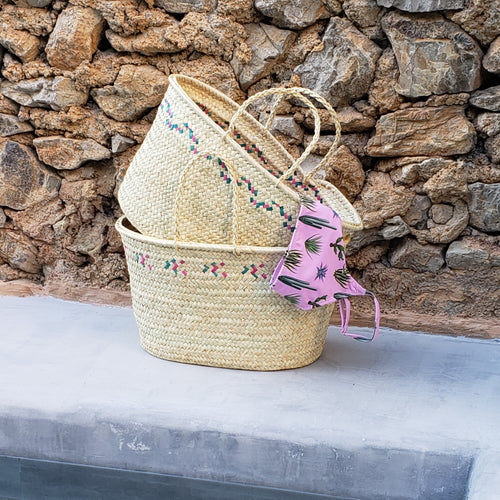 EXCLUSIVE Mallorcan basket in Magenta / Emerald