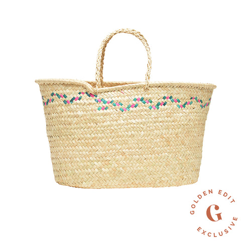 EXCLUSIVE Tri color large woven Mexican tote