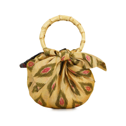 EXCLUSIVE Silk Sari Dumpling bag