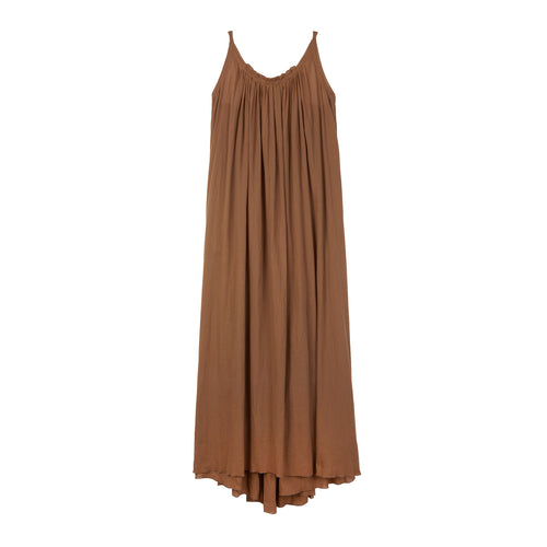 Gather organic cotton maxi dress