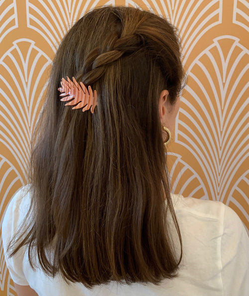 Flamingo Leaf Hair Pin