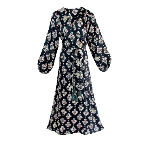 Goa lotus wrap dress