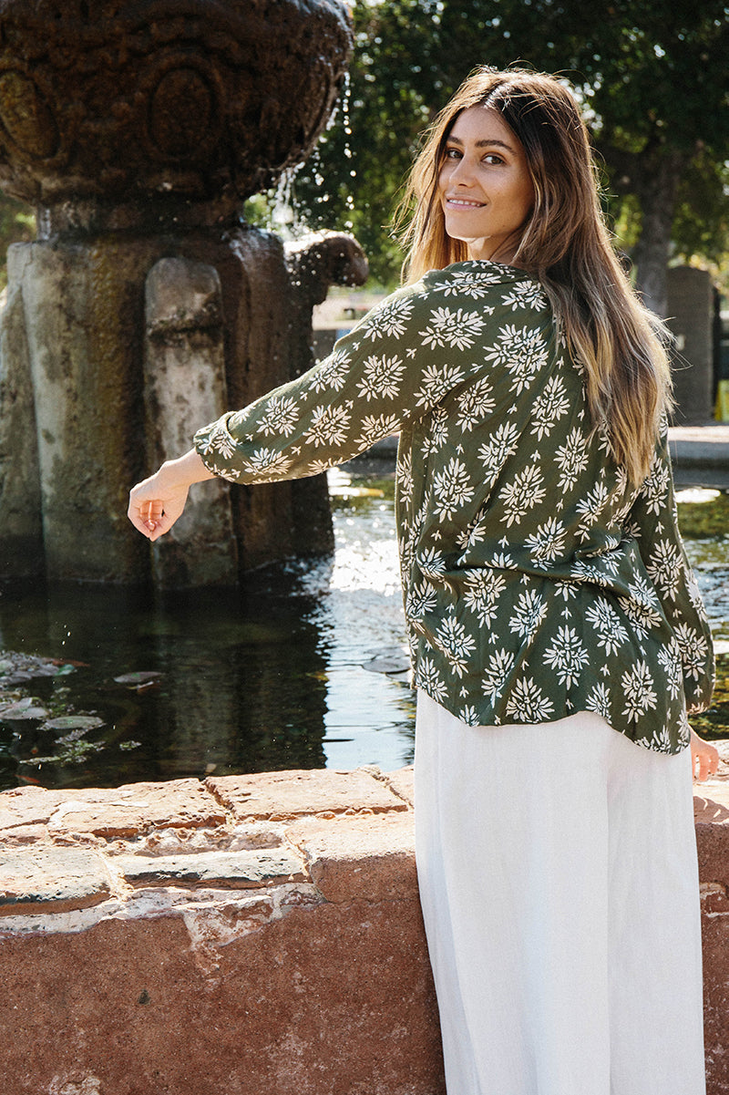 Goa lotus blouse