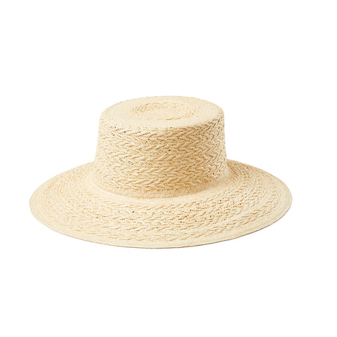 ONLY ONE LEFT - Semi Calado toquilla straw fedora hat