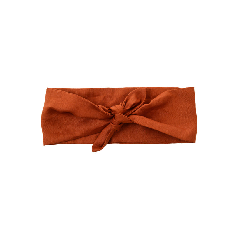 paprika color vintage inspired headtie