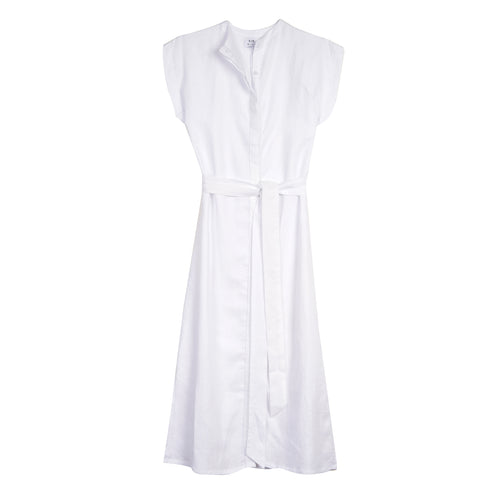 Inaya tie linen midi dress