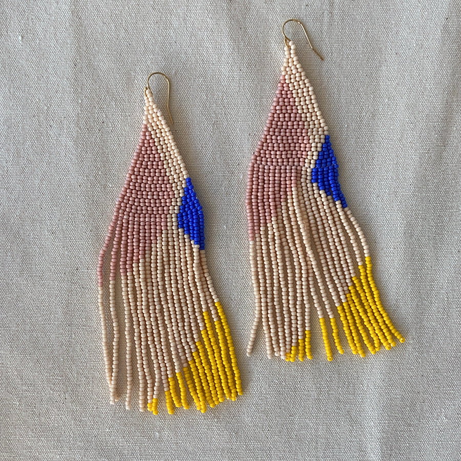 Lily hand beaded earrings