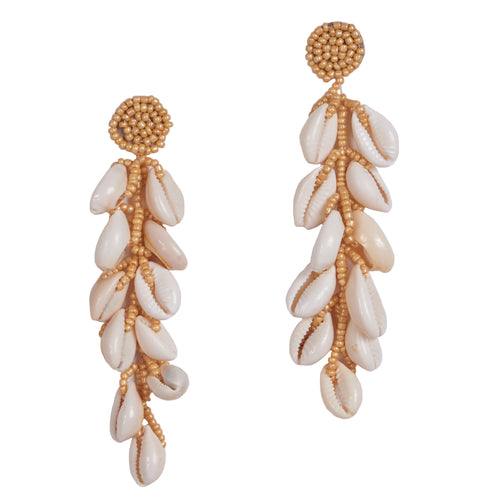 Lula shell beaded earrings