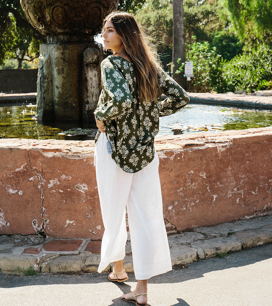 Olympia palazzo pants in White