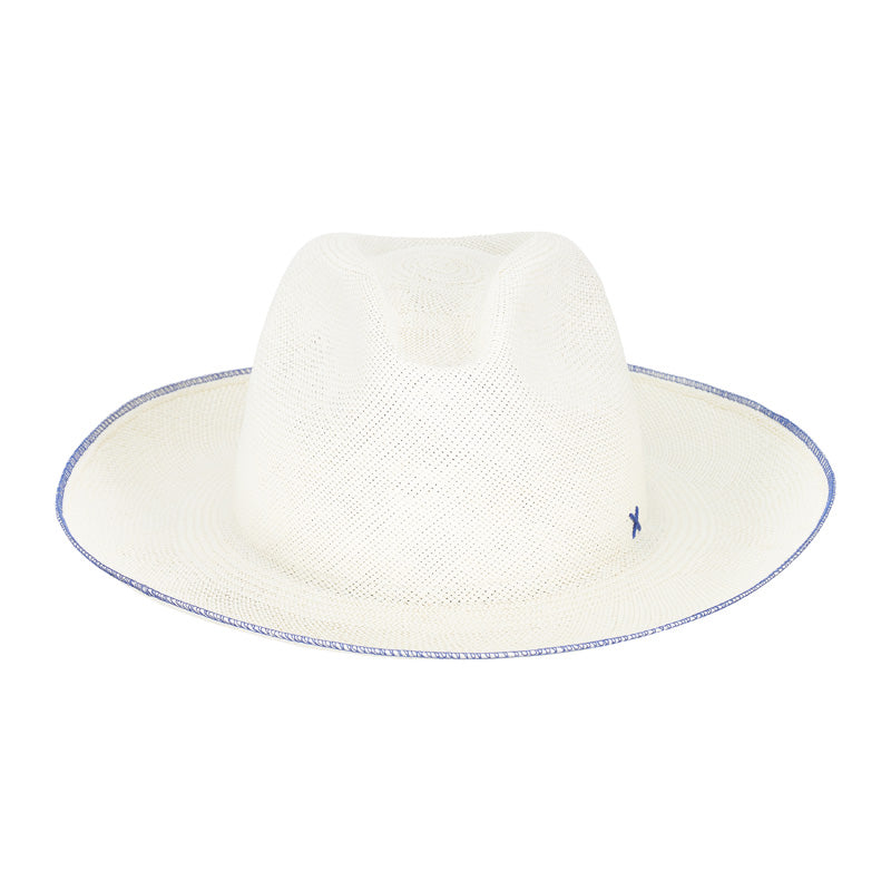 Paresi blue trim toquilla straw hat
