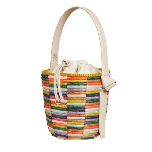 Rainbow Lunchpail basket bag