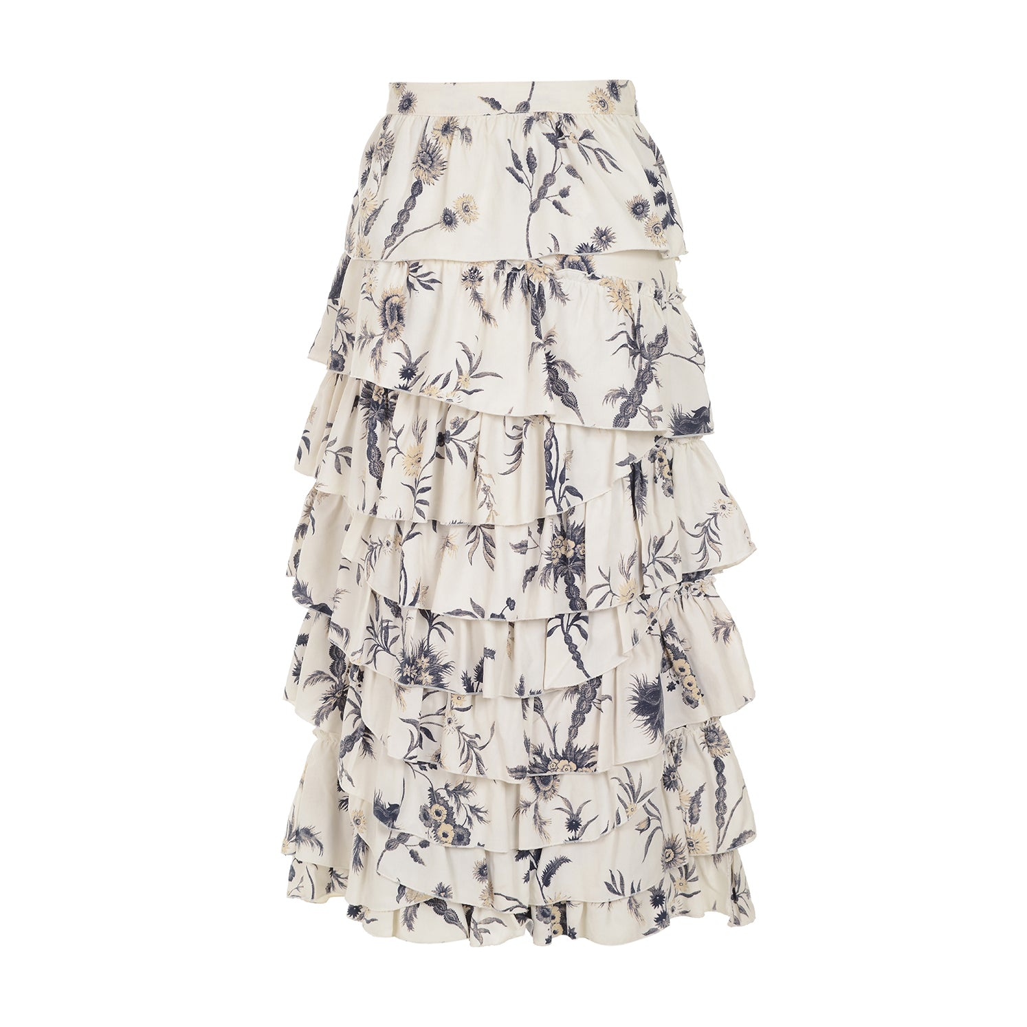 ONLY ONE LEFT- Florentine ruffle midi skirt