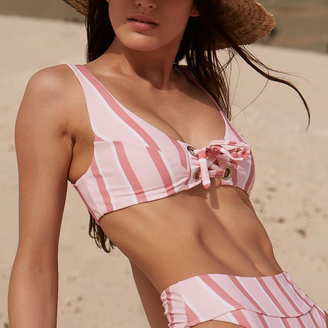 Sofia nautical striped bikini top