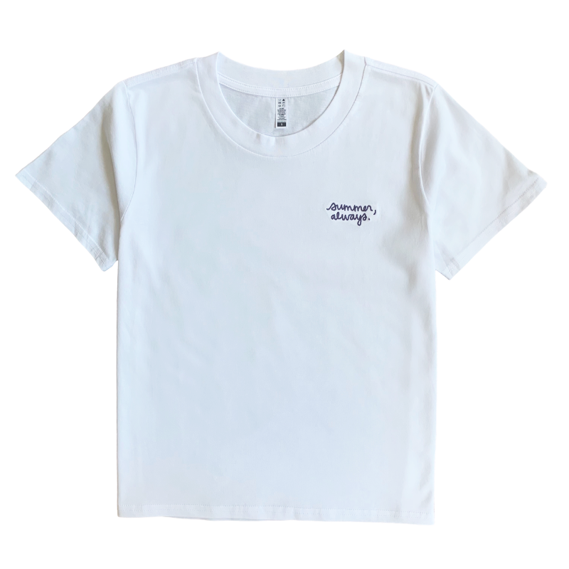 Summer, always embroidered tee