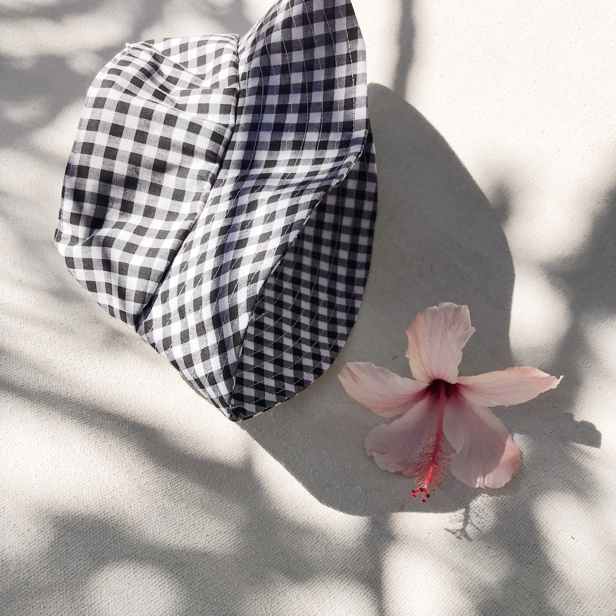 Black Gingham Bucket Hat