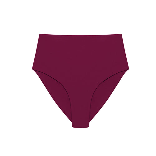 burgundy high waisted bikini briefs