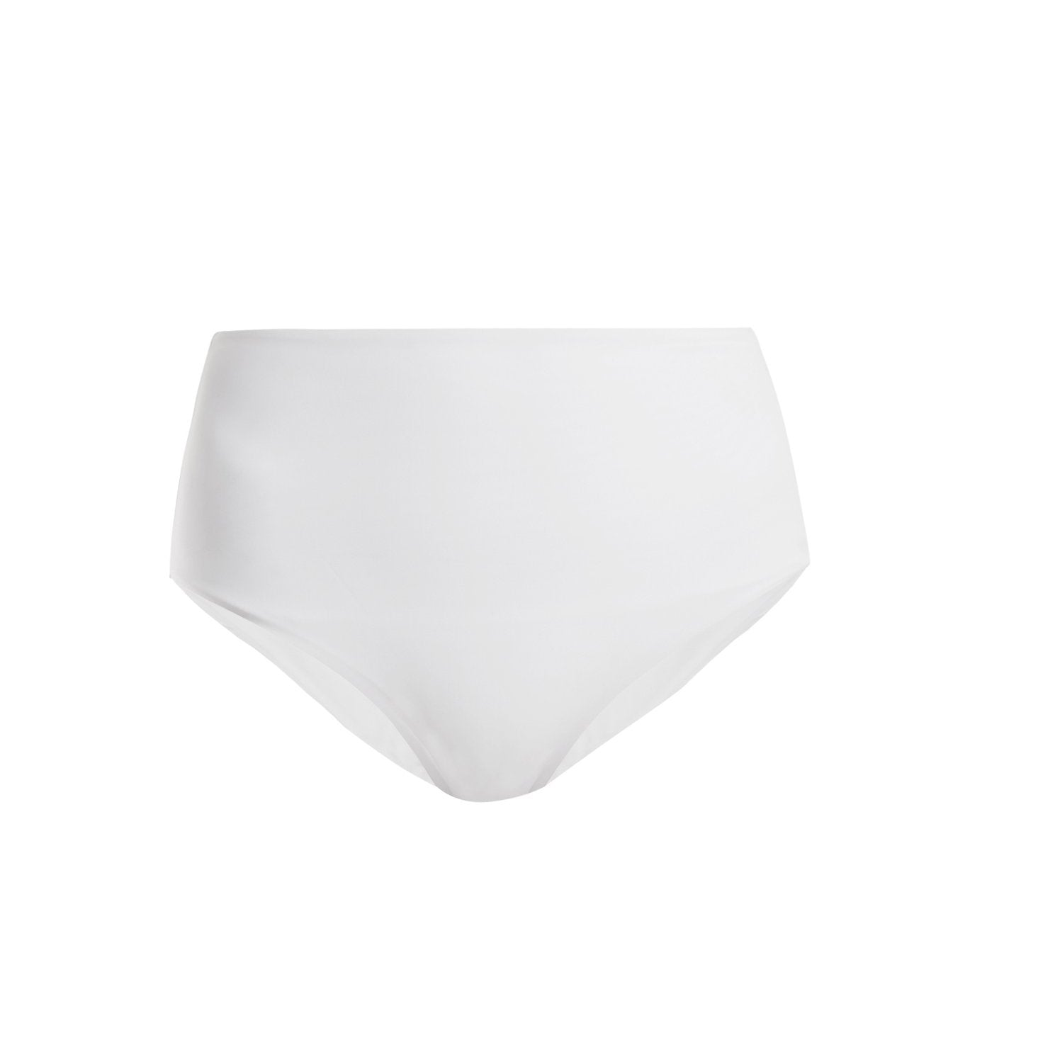 Bound high waist bikini briefs in White