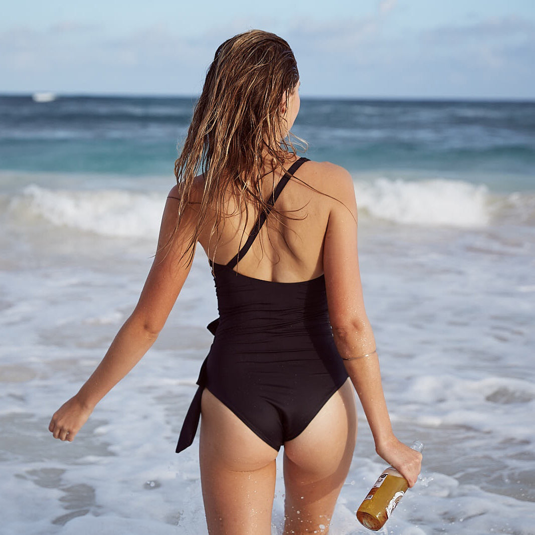 Collision cutout one piece swimsuit