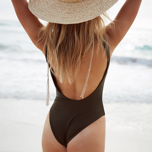 ONLY ONE LEFT - Contour low back one piece swimsuit